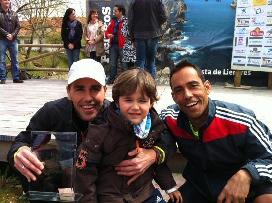 Luisma Gonzalez, Jorge Rivero y la próxima generación piloñesa.