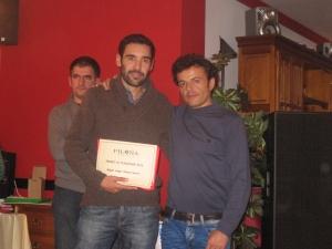 Luisfer recoge el premio de su hermano Miguel