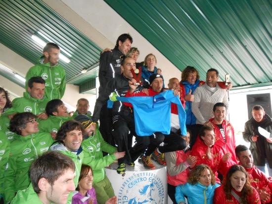 Podio del Cto. de Asturias de Carreras de Montaña por Clubes 2013