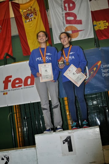 Loreto y Romina en lo más alto del podio