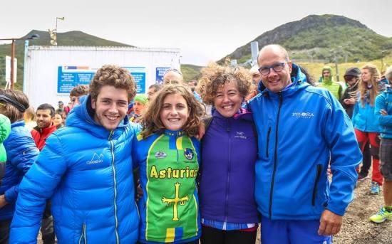 La familia que hace deporte unida...: Carlos, Julia, Eva y Vicente.