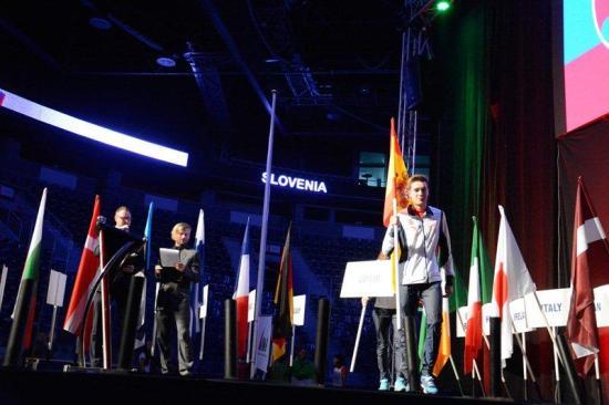 Manuel fue el abanderado español en Liberec