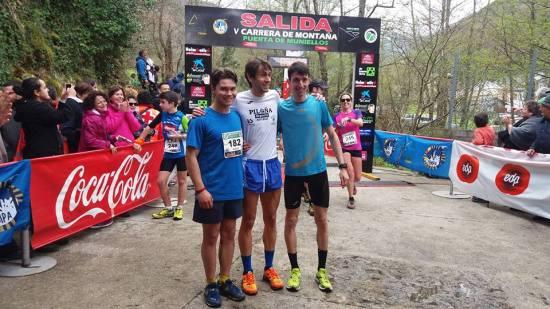 Xurde, Martín y Oscar, podio absoluto en la prueba corta. (Foto del organizador)