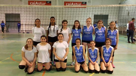 Villaviciosa (blanco) y Piloña (azul)