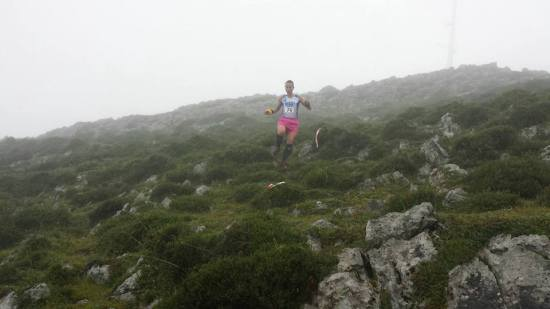 Y Raquel bajando. (Foto de Manu Rodríguez).