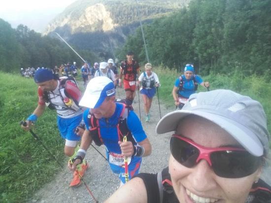 Carmen en el Ultra Trail de Mont Blanc 2016