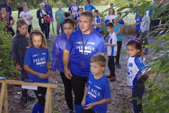 La orientación, deporte para todos. Nuestra familia de Cabranes al completo. (Foto de Cristina, Nordeste Orientación)