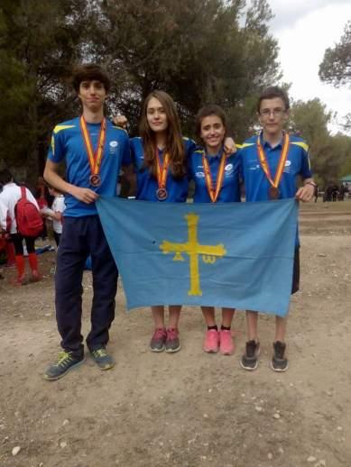 Manu, Aitana, Carlota y Rodrigo, el día en que lograron la medalla