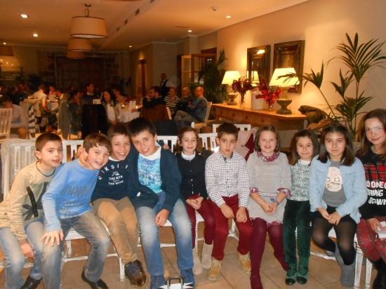 Jorge, Carlos, Nacho, Raúl, Paula, Hugo, Nora, Manuela, Carla y Amelia